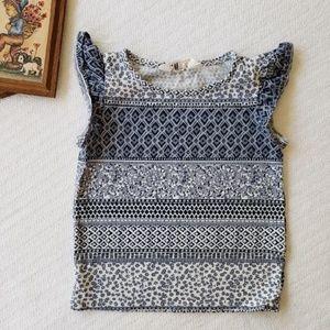 H&M Navy Navy Floral T Shirt 2-4